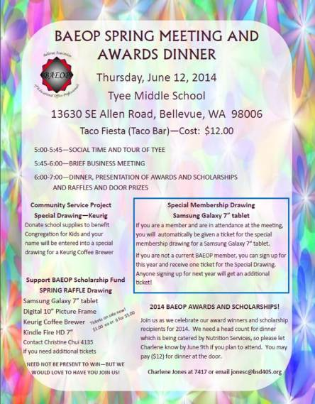Spring Meeting and Awards Dinner