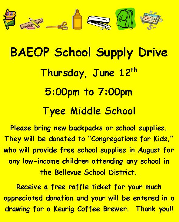 BAEOP School Supply Drive